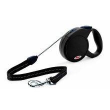 Flexi New Classic, Cord Leash, M: 5 M, Black - Classic Retractable Lead Medium - Flexi Classic Retractable Cord Lead Medium Black Dog Walking Dogs
