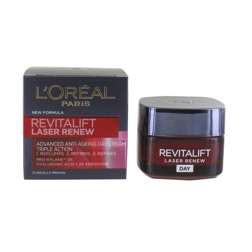 L'Oreal Revitalift Laser Renew Advance Anti-Ageing Moisturiser Triple Action 50ml (Hyaluronic Acid and Pro-Xylane 3%)