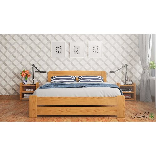New Solid Wooden Pine Double Bed 4ft6in UK Sine - F1