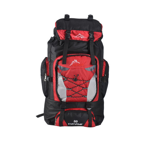 ( Red) 80L Camping Backpack