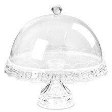 Cake Stand Vintage Dome Cover Afternoon Tea Wedding Party Tableware