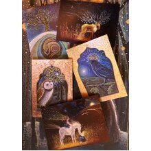 The Old Songs card pack of 5 greetings cards by Hannah willow