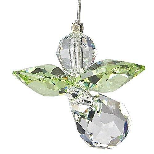 Hanging Crystal Guardian Angel Birthstone Suncatcher AUGUST - PERIDOT - Embellished with Swarovski Crystals