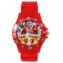 RED Silicone Watch for Power Rangers Fans