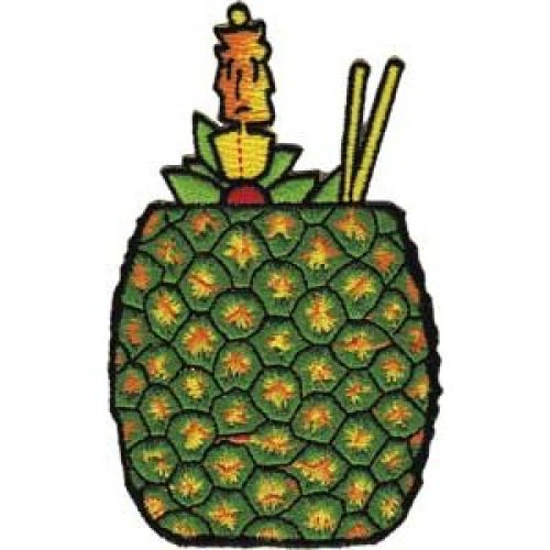 Patch - C&D - Hawaii - Pineapple Drink New Iron-On p-3927