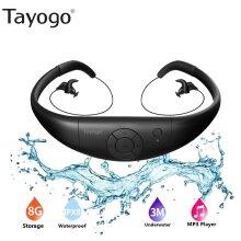 waterproof swimming mp3 player 8GB headphone