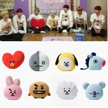 BTS BT21 Plush Toy CHIMMY TATA COOKY RJ Pillow Doll Sofa Cushion Kids Army Gifts