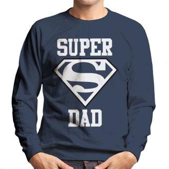 Retro Logo Distressed Adult Crewneck Sweatshirt Superman