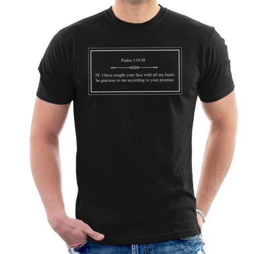 Religious Quotes Be Gracious Psalm 119 58 Men's T-Shirt