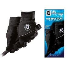 FootJoy Mens WinterSof Pair Golf Glove Black Large Pair