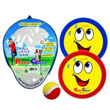 Paddle Catch Toss and Catch Ball Set - Self Stick Paddle Ball Game with 2 Paddles 1 Ball and 1 Storage Bag