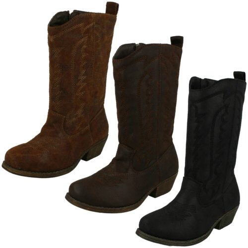 Girls Cutie Mid-Calf Cowboy Style Boots