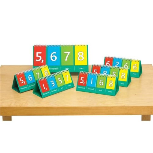 12.25 x 6 in. Place Value Flip Chart, Demo