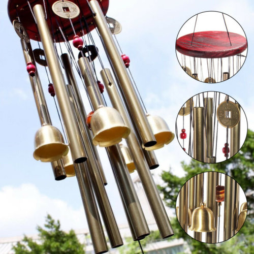 UK Large Wind Chime Yard Garden Outdoor Noisemaker Bells Pavilion Copper Coin