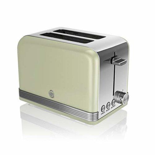 Swan 2 Slice Retro Green Toaster