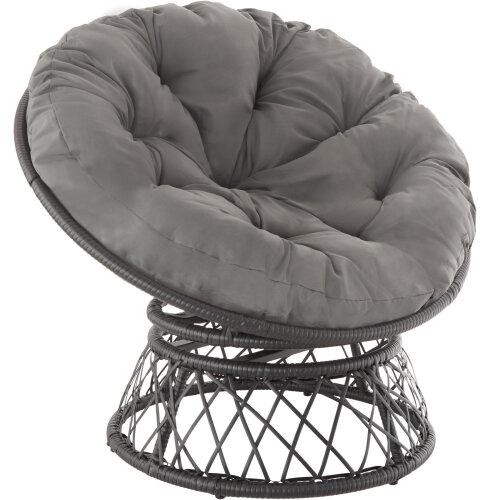 tectake Gargano Rattan Chair - black
