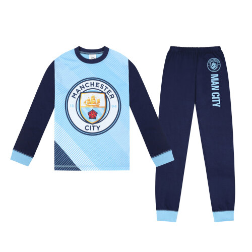 (5-6 Years) Manchester City FC Official Football Gift Boys Sublimation Long Pyjamas