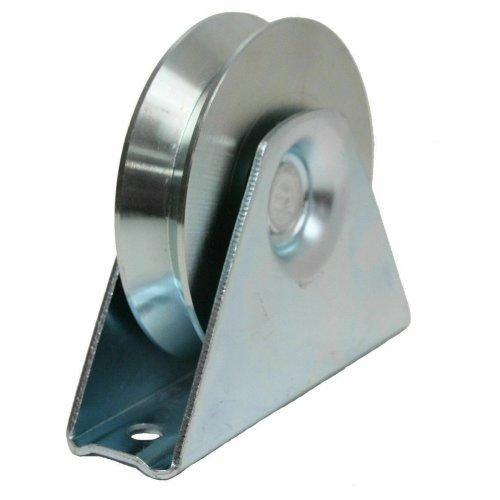80mm V groove Gate wheel pulley wheel in bracket, guide wheel