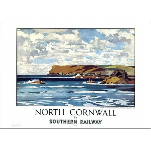 North Cornwall by Southern Railway, SR poster, 1947 (Poster Print)