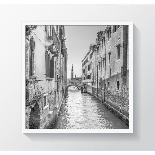 "12x12"" / 30x30cm - Oxford White Square Photo/Picture Frame - Glass Window"