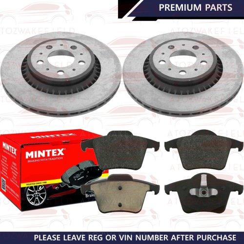 FOR VOLVO XC90 T6 D3 D5 3.2 AWD 2.5 T REAR BRAKE DISCS MINTEX PADS SET 308mm KIT
