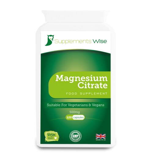 Magnesium Citrate Capsules - 120 x 500mg - Restless Leg Syndrome