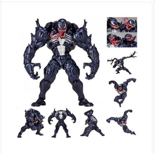 Marvel Spider-Man Venom Revoltech Series PVC Action Figure Model Toys Collection