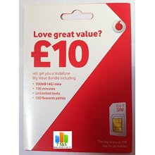Vodafone Pay As You Go Nano Sim Card