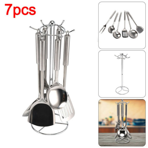 7 Piece Kitchen Utensil Stainless Steel Cooking Tool Gadget Set Kitchenware New