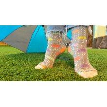 Pastel Umbrella Pattern Sock