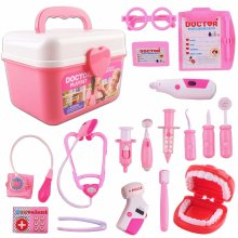 deAO Doctor and Dentist Carrycase Playset 2in1 (17 Accessories)