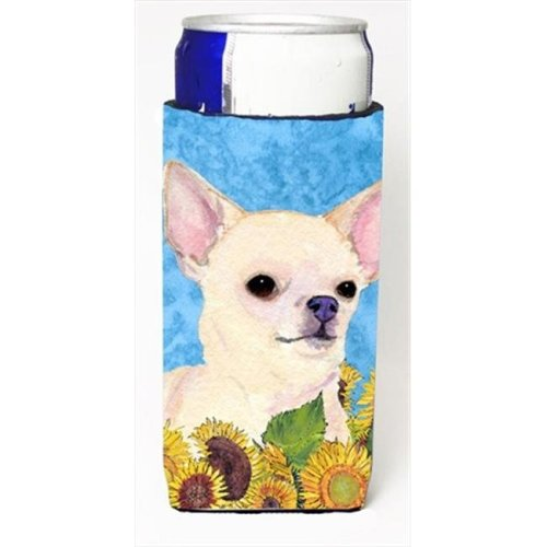 Chihuahua In Summer Flowers Michelob Ultra bottle sleeves For Slim Cans - 12 Oz.