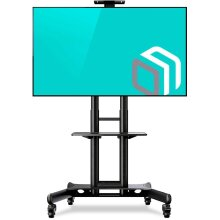 """ONKRON Mobile TV Stand TV Cart for 40"""" - 70"""" Height Adjustable TS1551"""
