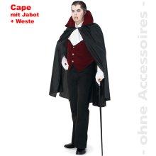 Count Dracul costume Men cape Dracula Vampire Halloween Costume Mr. Size UNI