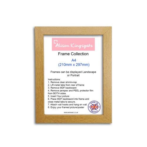 (NDS A4 OAK) A1 A2 A3 A4 Walnut Poster Frame Oak Photo Frame
