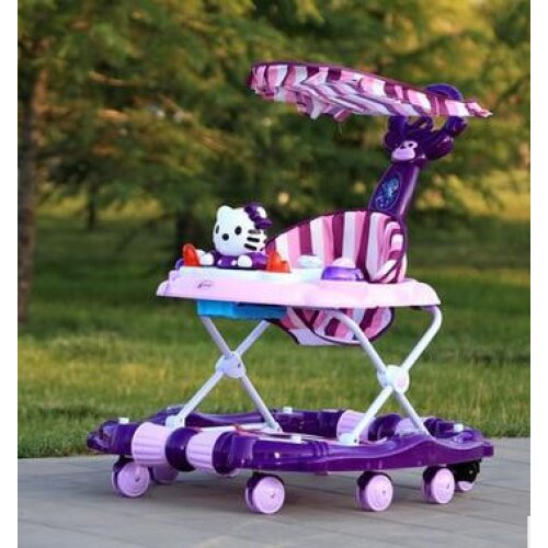 Baby Walker, Child Car Rollover, Multi-function, Folding Rock, Music Carriage With Toys