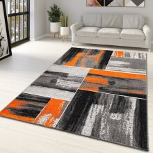 Orange and Grey Rug Abstract Geometric Patterned Rug for Living Room Bedroom Lounge Large Small