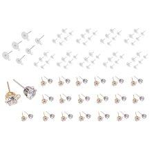 100pcs stainless steel head ear pins earring stud hanging hook earring jewellery findings