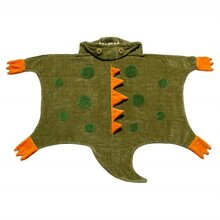 Kidorable Boys Dinosaur Towel, Army green, Small