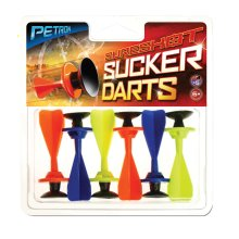Petron Sucker Darts for Sureshot range - pack of 6 suction tip darts