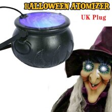 2021 Outdoor/Indoor Halloween Decorations Lights Mist Maker Fogger 12 LED Colors