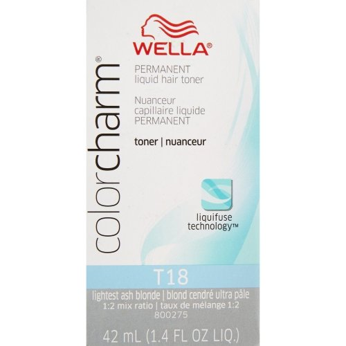 (T18 Only) Wella Color Charm Liquid Toner - T18 Lightest Ash Blonde & Developer 20