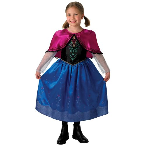 Girls Deluxe Frozen Anna Fancy Dress Costume (5-6 Years)