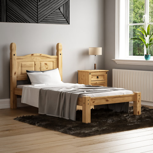 (Single) Corona Mexican Solid Pine Bed Frame Low Foot End