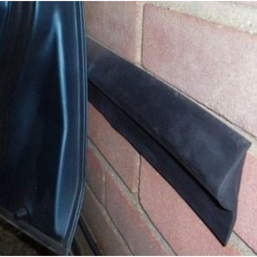 Garage Car Door Protector Wall Bumper Guard (2x2 ft strips + adhesive)