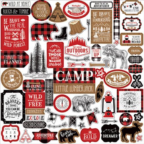 Echo Park Little Lumberjack 12x12 Inch Element Sticker
