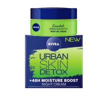 Nivea Urban Skin Detox Night Gel Cream +48h Moisture Boost 50ml Anti Oxidants and Green Tea