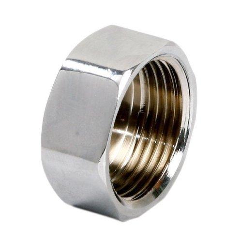 "Pipe Tube Fittings Chrome Plug Stop End Cap Cover Ending Female 3/8"" 1/2"" 3/4"