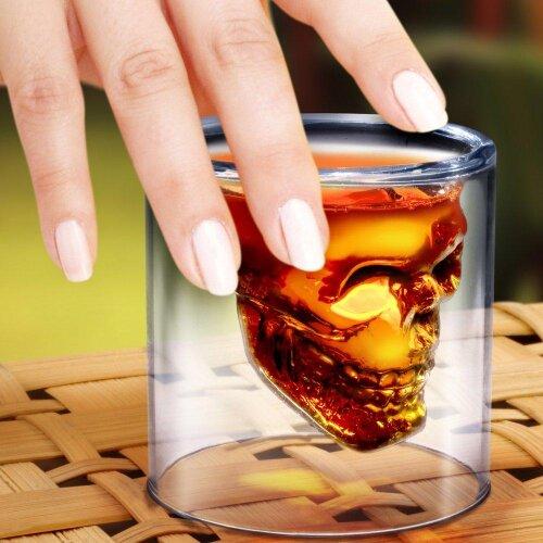 (Doomed Skull Shot Glass) Doomed Skull Shot Glass