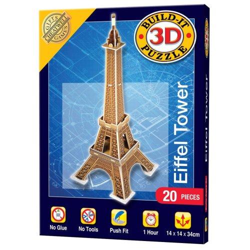 Mini Build Your Own 3d Puzzle Model Kit - Eiffel Tower (20 Pieces)